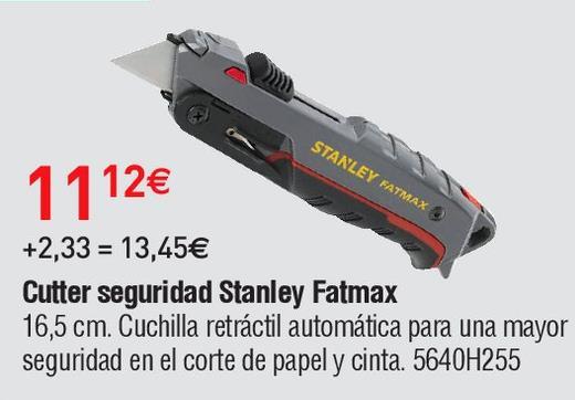 Oferta de Cutter de seguridad Stanley por 11.12€