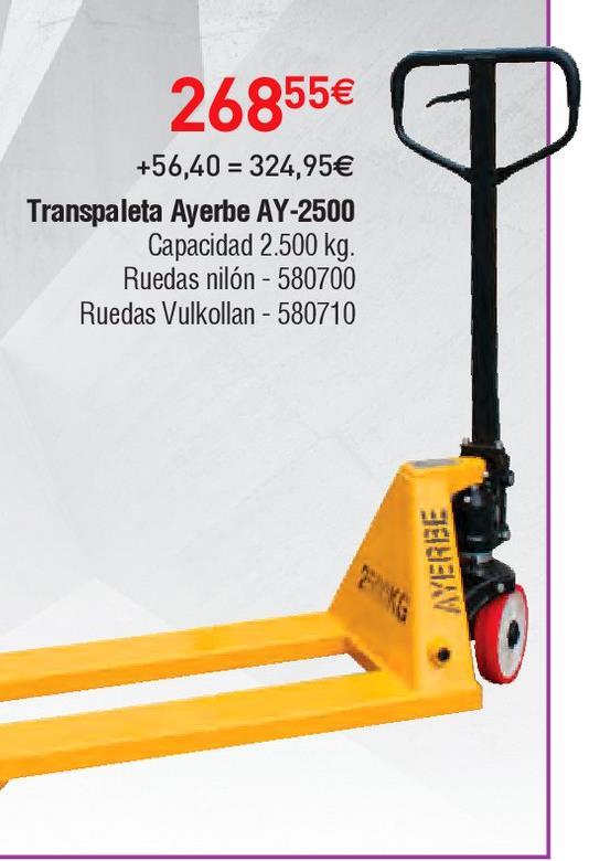 Oferta de Transpaleta Ayerbe por 268.55€