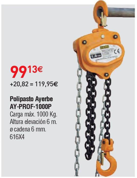 Oferta de Polipasto Ayerbe por 99.13€
