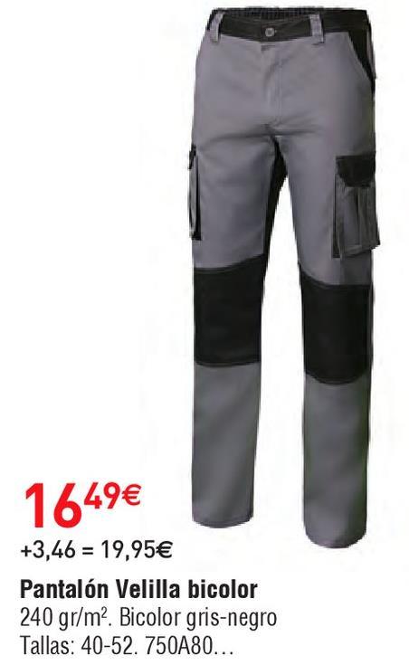 Oferta de Pantalones velilla por 16.49€