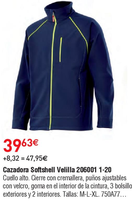 Oferta de Cazadoras con cremallera velilla por 39.63€