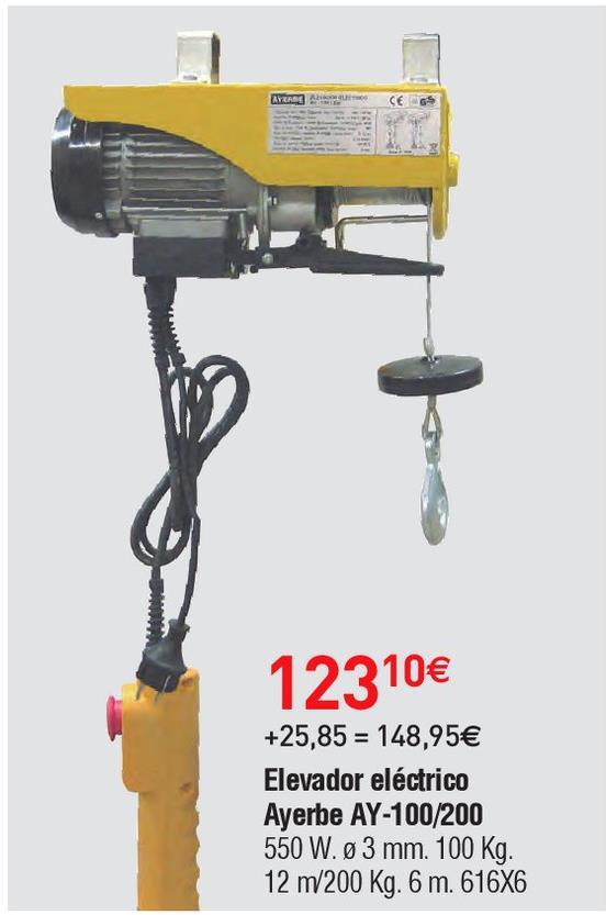 Oferta de Elevador eléctrico Ayerbe por 123.1€