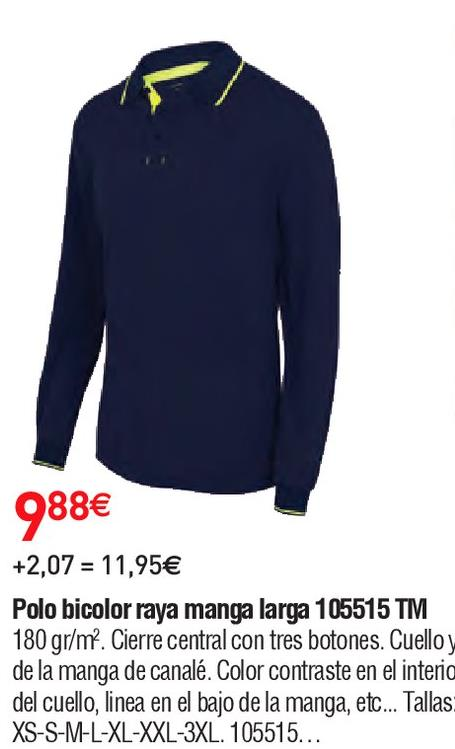 Oferta de Polo manga larga por 9.88€