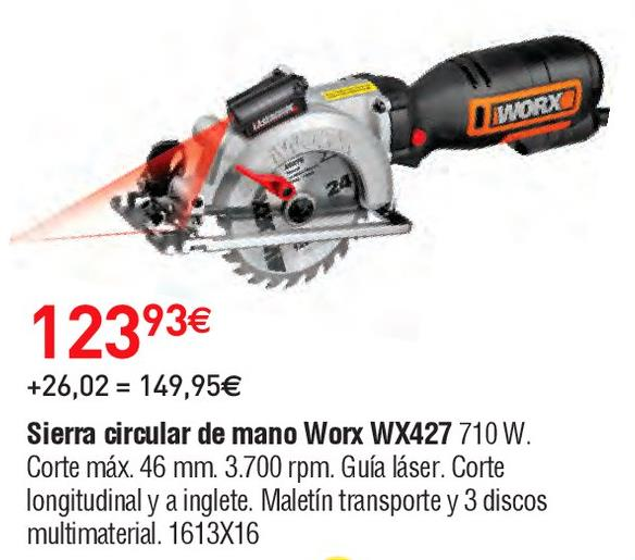 Oferta de Sierra circular worx por 123.93€