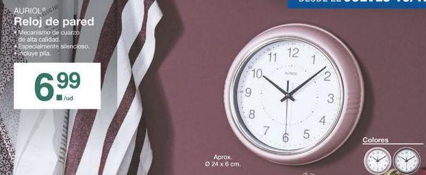 Reloj de pared Auriol