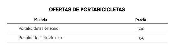 Oferta de Portabicicletas por