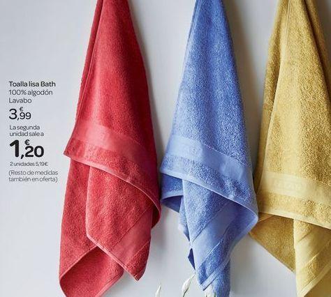 Oferta de Toalla lisa Bath por 3.99€