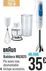 Oferta de Batidora Braun por 35€