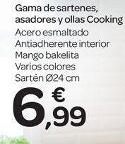 Oferta de Gama de sartenes, asador y ollas Cooking por 6.99€