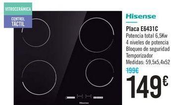 Oferta de Placa Hisense  por 149€