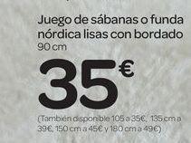 Oferta de Juego de sábanas o funda nórdica lisas con bordado por 35€