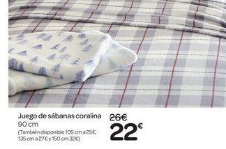 Oferta de Juego de sábanas coralina por 22€