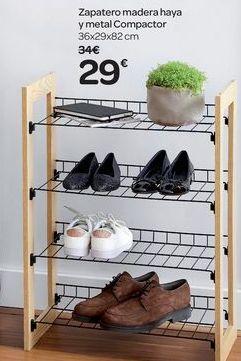 Oferta de Zapatero madera haya y metal Compactor por 29€