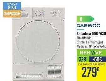 Oferta de Secadoras Daewoo por 329€