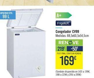 Oferta de Congelador Frigelux  por 219€