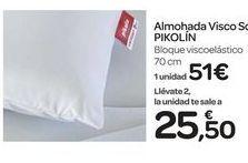 Oferta de Almohada Visco PIKOLIN por 51€