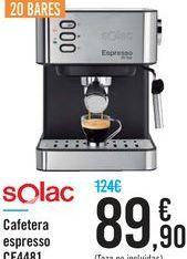 Oferta de Cafetera espresso Solac por 89.9€