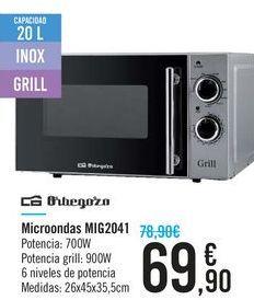Oferta de Microondas Orbegozo por 69.9€