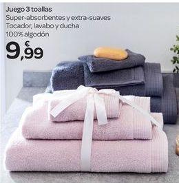 Oferta de Juego 3 toallas  por 9.99€