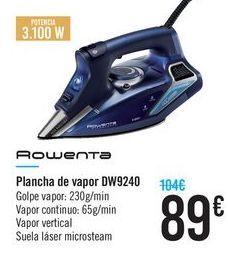 Oferta de Plancha de vapor DW9240 Rowenta  por 89€