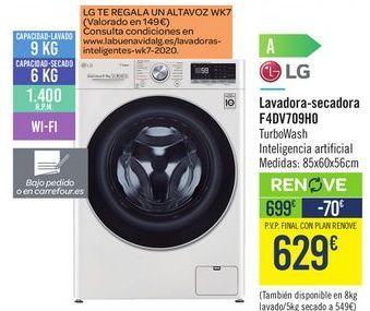 Oferta de Lavadora secadora F4DV709H0 LG por 699€