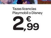 Oferta de Tazas licencias Playmobil o Disney por 2.99€