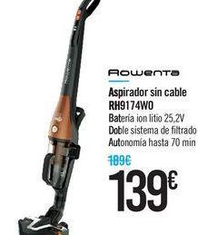 Oferta de Aspirador sin cable RH9174W0 Rowenta  por 139€