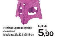 Oferta de Mini taburete plegable de resina  por 5.9€
