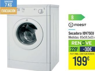 Oferta de Secadoras IDV75EU Indesit por 229€