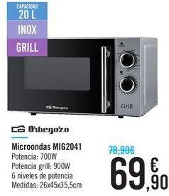 Oferta de Microondas MIG2041 Orbegozo por 69.9€