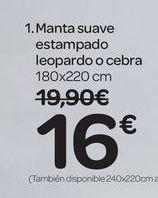 Oferta de Manta suave estampado leopardo o cebra por 16€