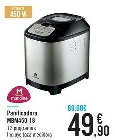 Oferta de Panificadora MBM450-18 Mandine por 49.9€