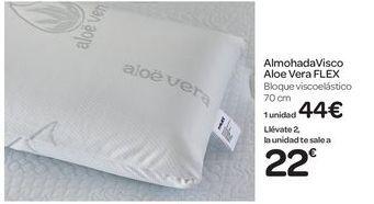 Oferta de Almohada Visco Aloe Vera Flex por 44€