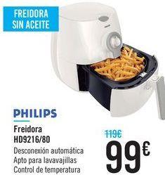 Oferta de Freidora HD9216/80 Philips  por 99€