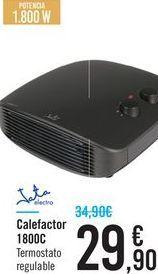 Oferta de Calefactor 1800C Jata por 29.9€