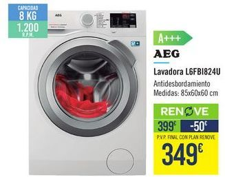 Oferta de Lavadora L6FBI824U AEG por 399€