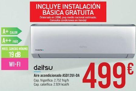 Oferta de Aire acondicionado ASD12UI-DA Daitsu por 499€