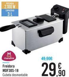 Oferta de Freidora MDF30S-18 Mandine  por 29.9€