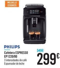 Oferta de Cafetera ESPRESSO EP1220/00 PHILIPS  por 299€