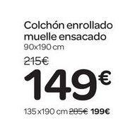 Oferta de Colchón enrollado muelle ensacado  por 149€