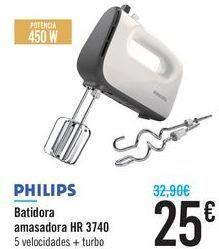 Oferta de Batidora amasadora HR 3740 Philips por 25€