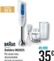 Oferta de Batidora MQ3025 Braun  por 35€