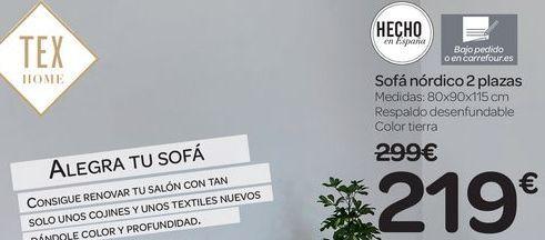 Oferta de Sofá nórdico 2 plazas  por 219€