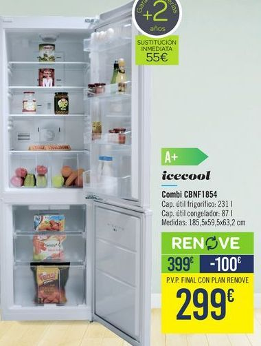 Oferta de Combi CBNF1854 Icecool  por 399€