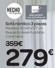 Oferta de Sofá nórdico 3 plazas  por 279€