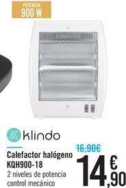 Oferta de Calefactor halógeno KQH900-18 klindo por 14.9€