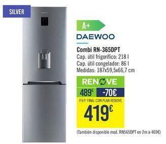 Oferta de Combi RN365DPT Daewoo  por 489€
