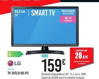 Oferta de TV 24TL510S-PZ LG por 159鈧�