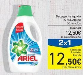 Oferta de Detergente l铆quido Ariel, ARIEL Alpine por 12.5鈧�