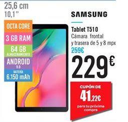 Oferta de Tablet T510 Samsung por 229鈧�